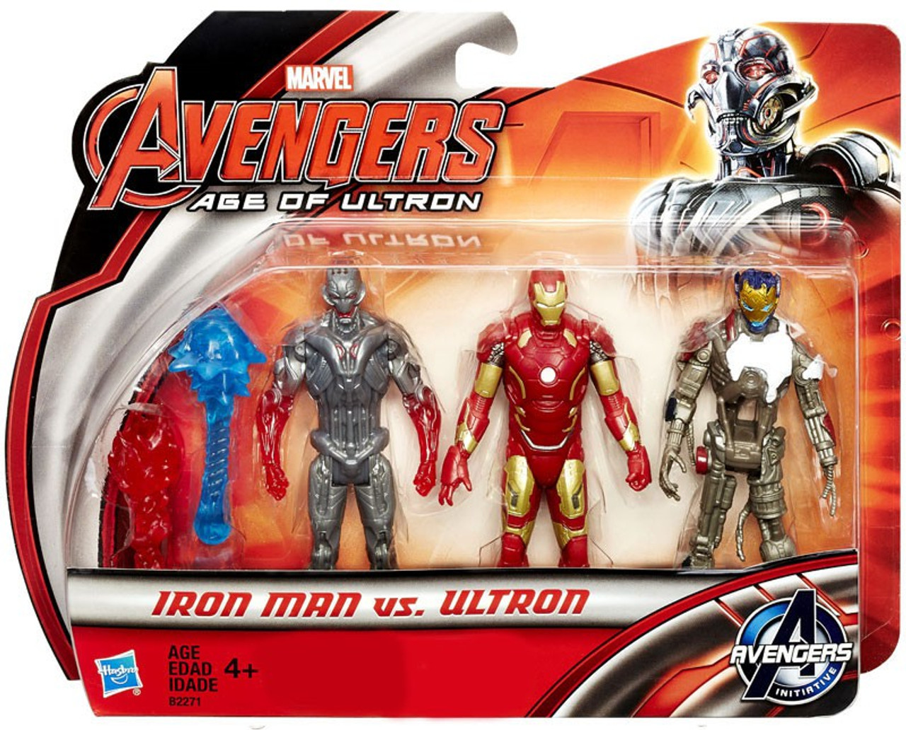 2015 Hasbro Target Exclusive Avengers Age of Ultron Iron Man vs Ultron 3 Pak MOC