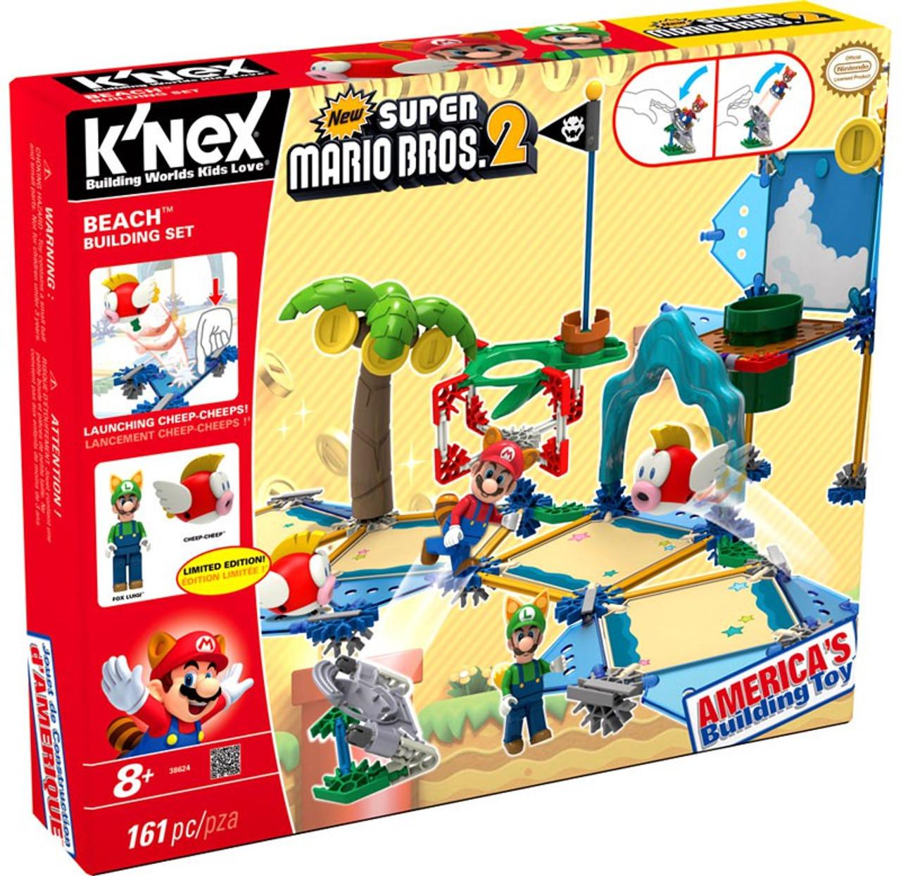 Knex New Super Mario Bros 2 Beach Building Set 38624 Toywiz