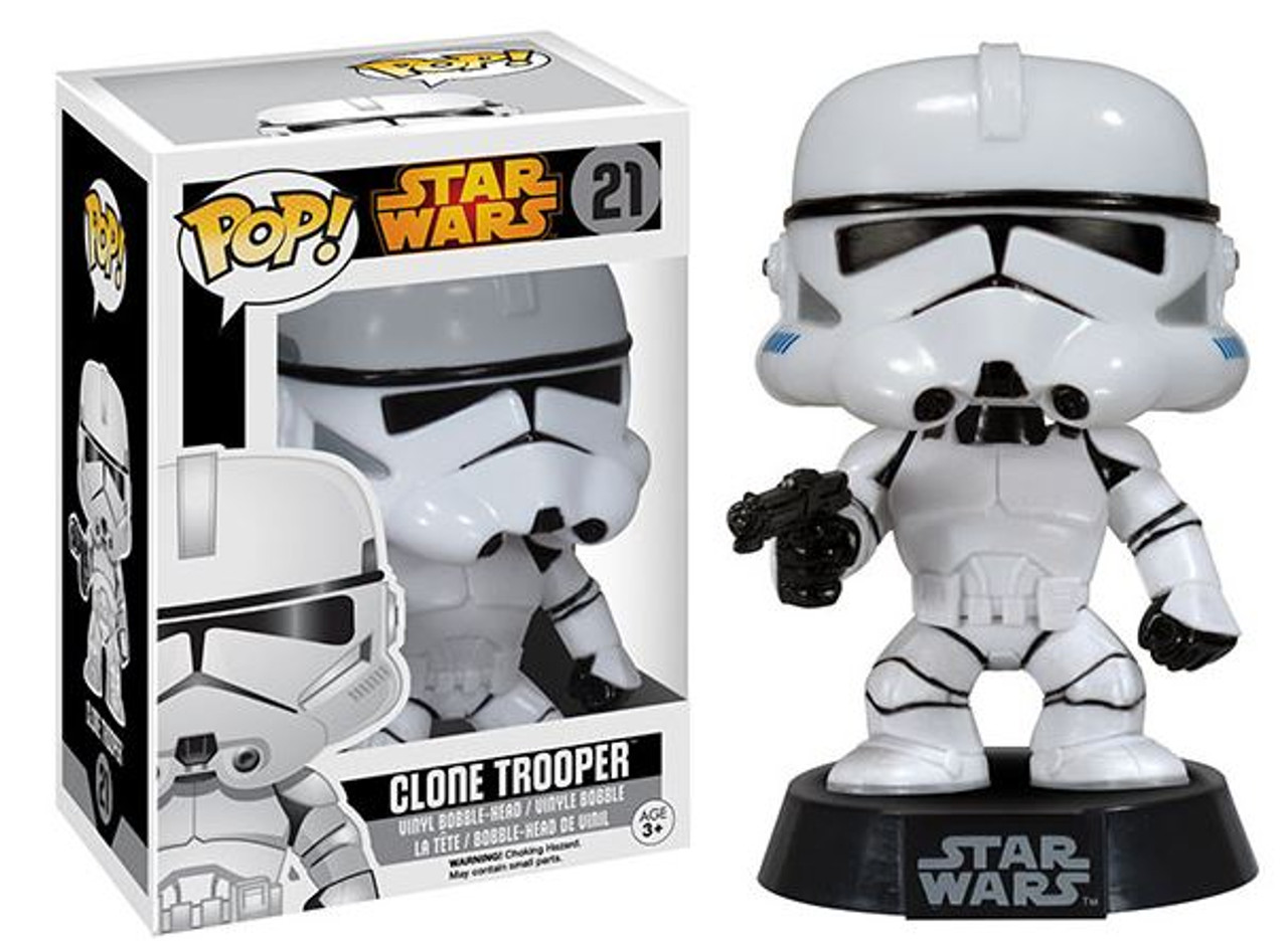 Funko Star Wars Return Of The Jedi Pop Star Wars Clone Trooper Vinyl Bobble Head 21 Vaulted Edition Toywiz