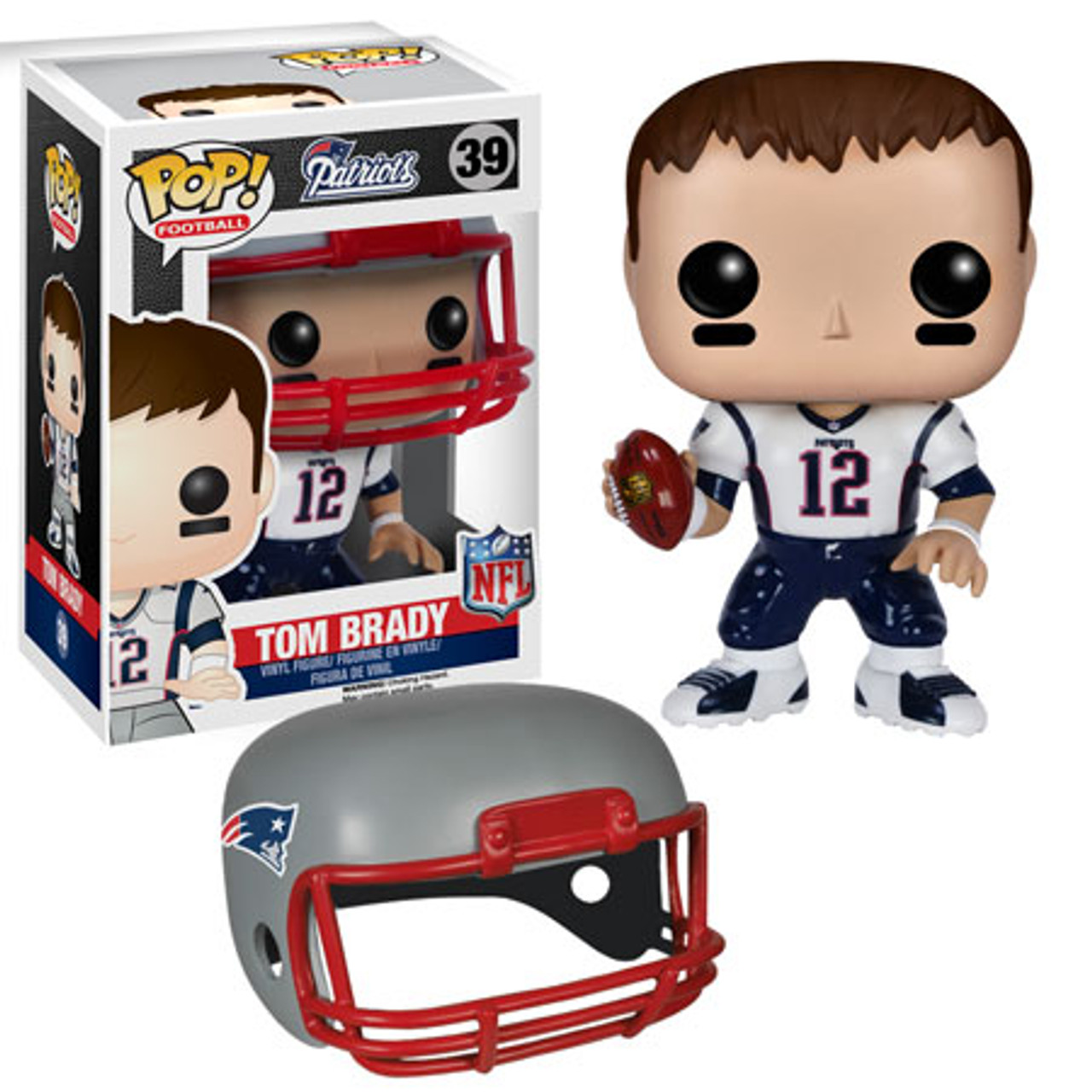 factory authentic 94801 1d2bf NFL New England Patriots Funko POP! Sports Tom Brady Vinyl Figure #39  [White Jersey]
