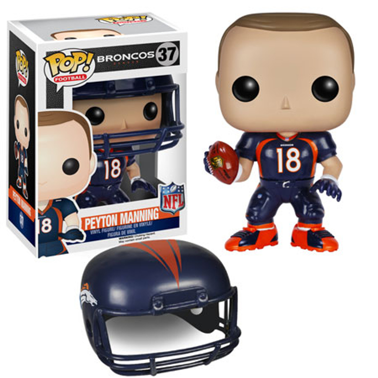 newest 9c456 88684 NFL Denver Broncos Funko POP! Sports Peyton Manning Vinyl Figure #37 [Blue  Jersey]