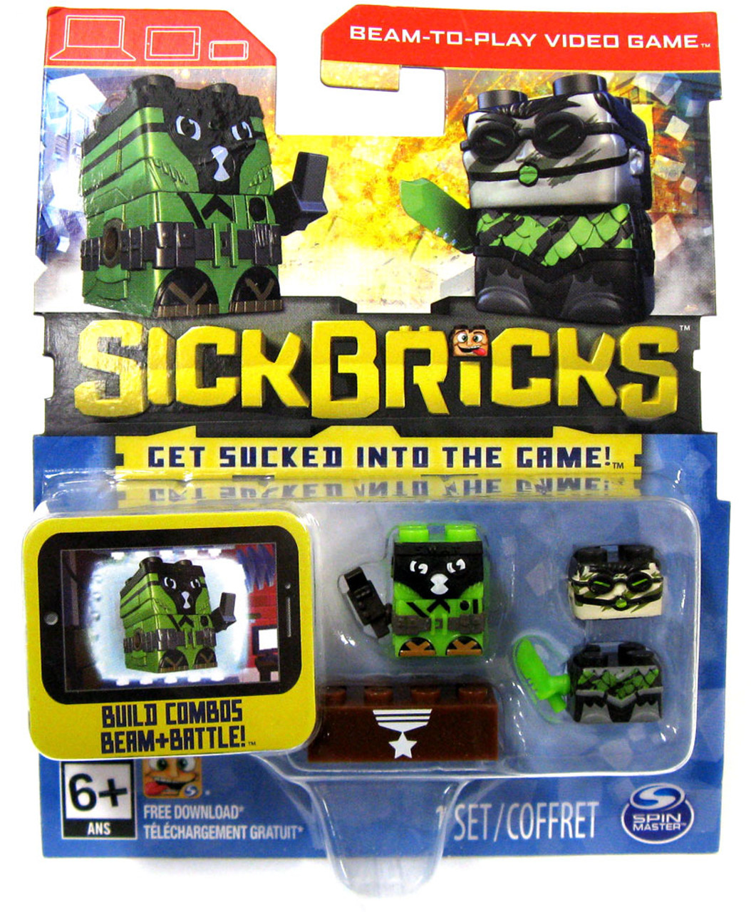 New in Package Sick Bricks Beam-to-Play 2-pack Macho Mike /& Cheese Grater