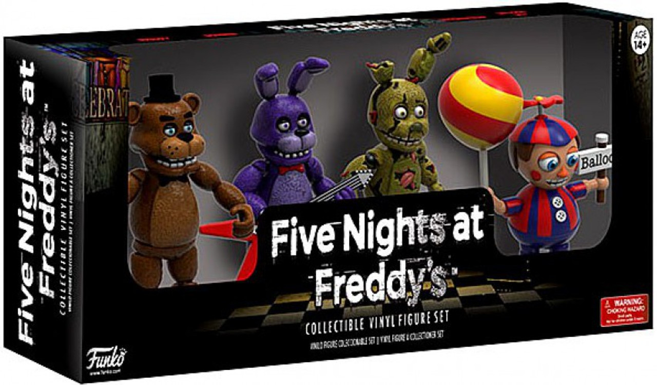 Five Nights At Freddy's Bonnie Animated funko five nights at freddy's freddy, bonnie, balloon boy & spring trap  2-inch mini figure 4-pack