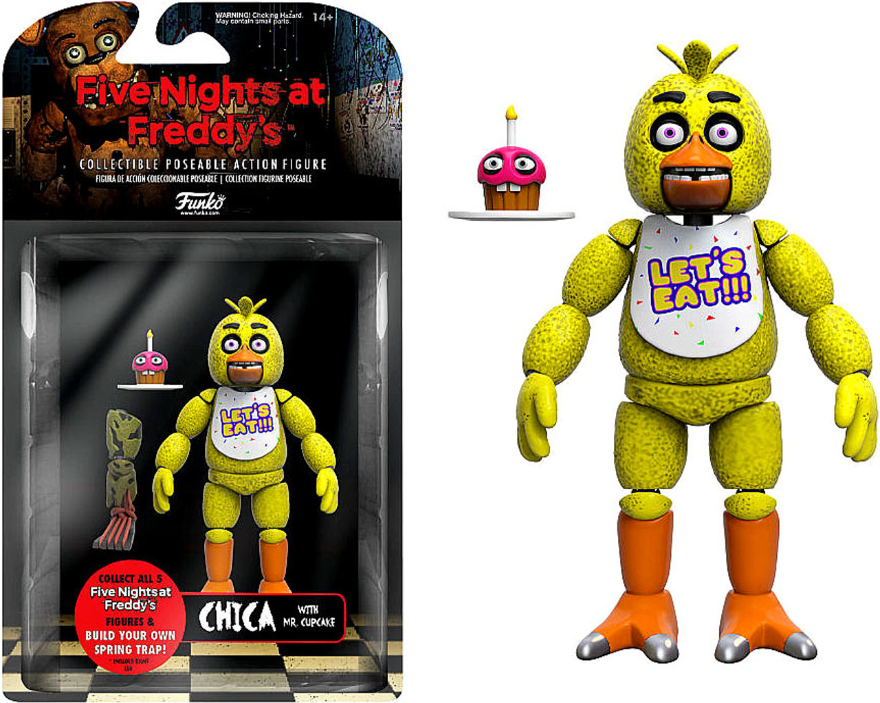 Funko Five Nights At Freddys Series 1 Chica Action Figure Build Spring Trap Part Toywiz