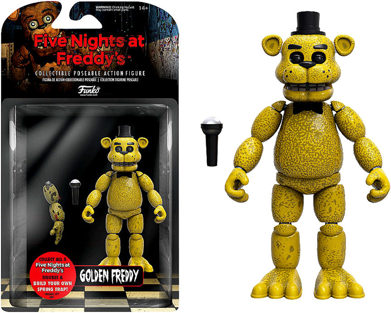Funko Five Nights at Freddy's Golden Freddy Action Figure [Build Spring  Trap Part]