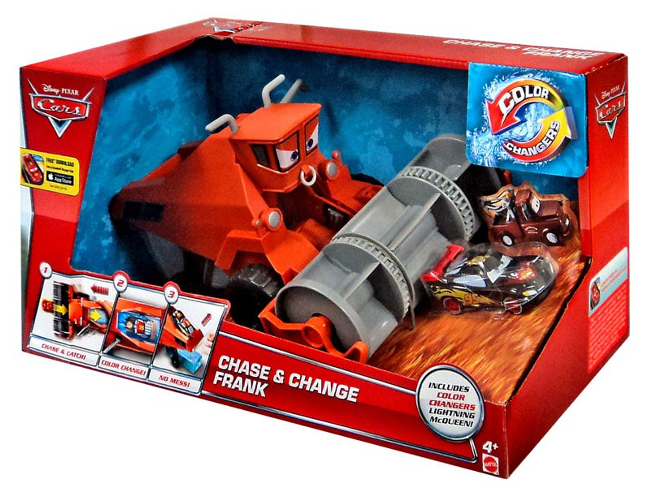 Disney Cars Color Changers Chase /& Change Frank Playset