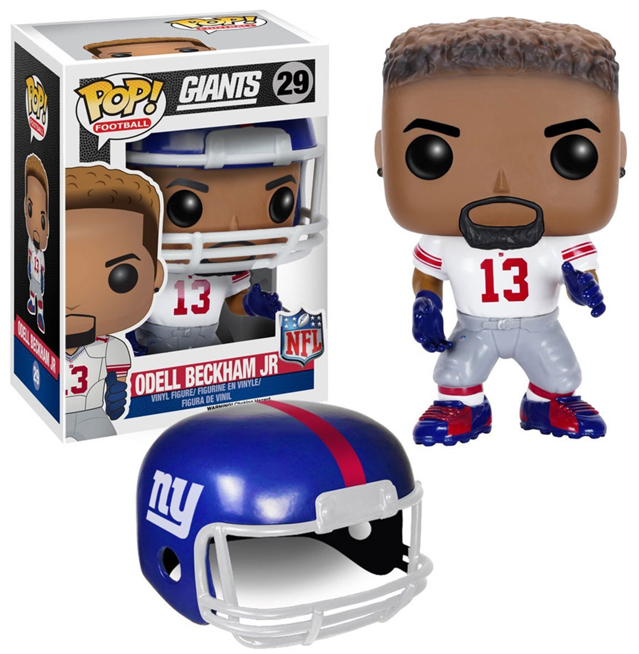 Pop Sports NFL Odell Beckham JR Cleveland Browns Pop Vinyl Figure Bundled with Pop Shield Protector