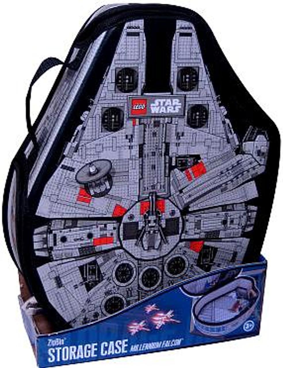 NEW Star Wars Millennium Falcon ZipBin Minifigure Brick Pouch Storage Case