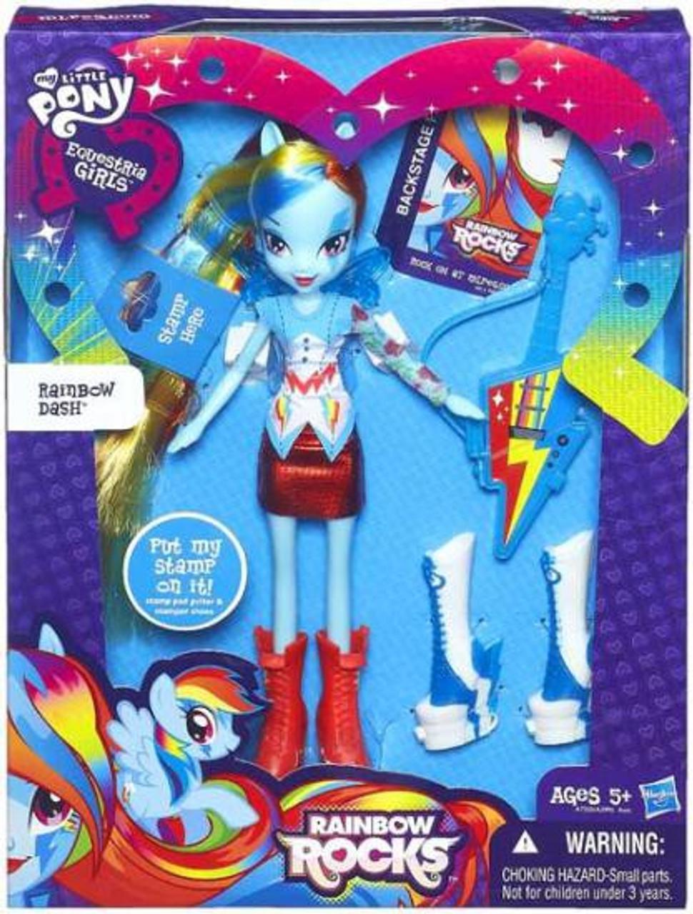 My Little Pony Equestria Girls Rainbow Dash Doll Hasbro 9 inch NEW SEALED
