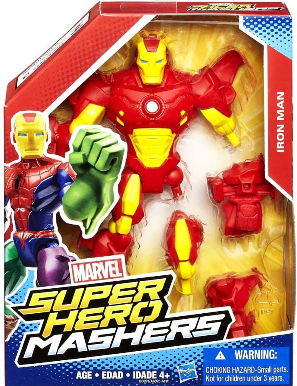 Marvel Super Hero Mashers Iron Man 6 Action Figure Red Armor Hasbro ... f76b24a67f