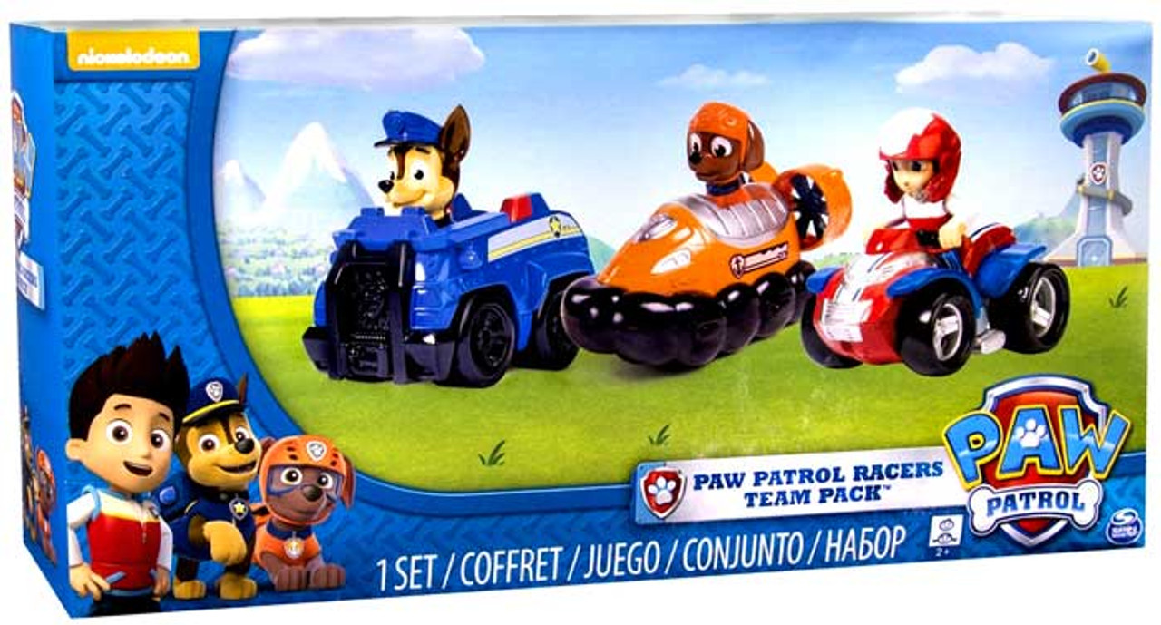 0ab5233ad Paw Patrol Rescue Racer Paw Patrol Racers Team Pack Chase, Zuma Ryder Spin  Master - ToyWiz