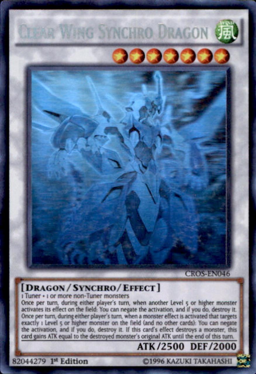 Secret Rare Yu-Gi-Oh! MP16-EN022 Clear Wing Synchro Dragon - Mega Pack 2016-1st Edition