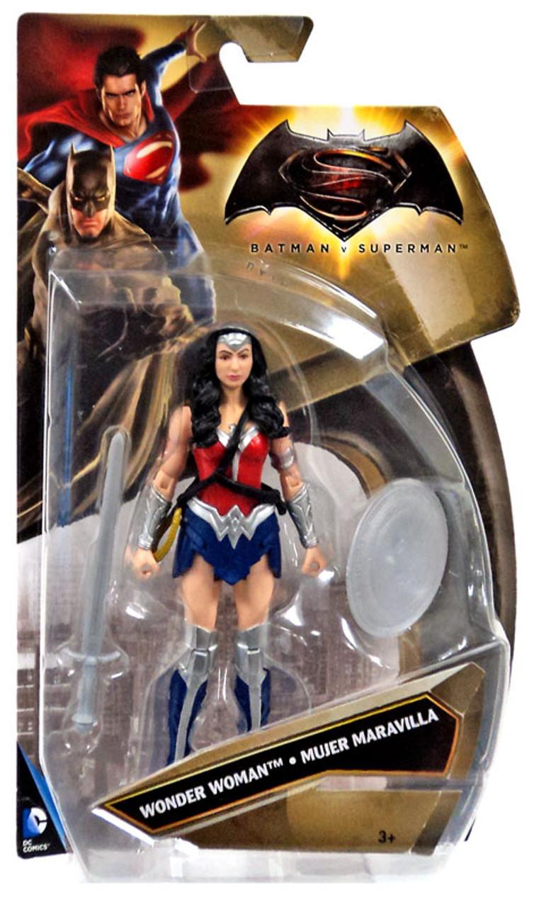 Dc Batman V Superman Dawn Of Justice Wonder Woman 6 Action Figure New 52 Silver Variant Mattel -4096