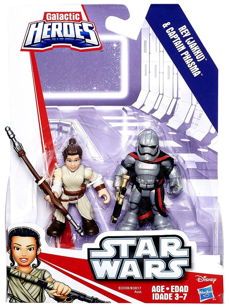 JaKku and Captain Phasma action figures NEW Star Wars  galactic heroes REY