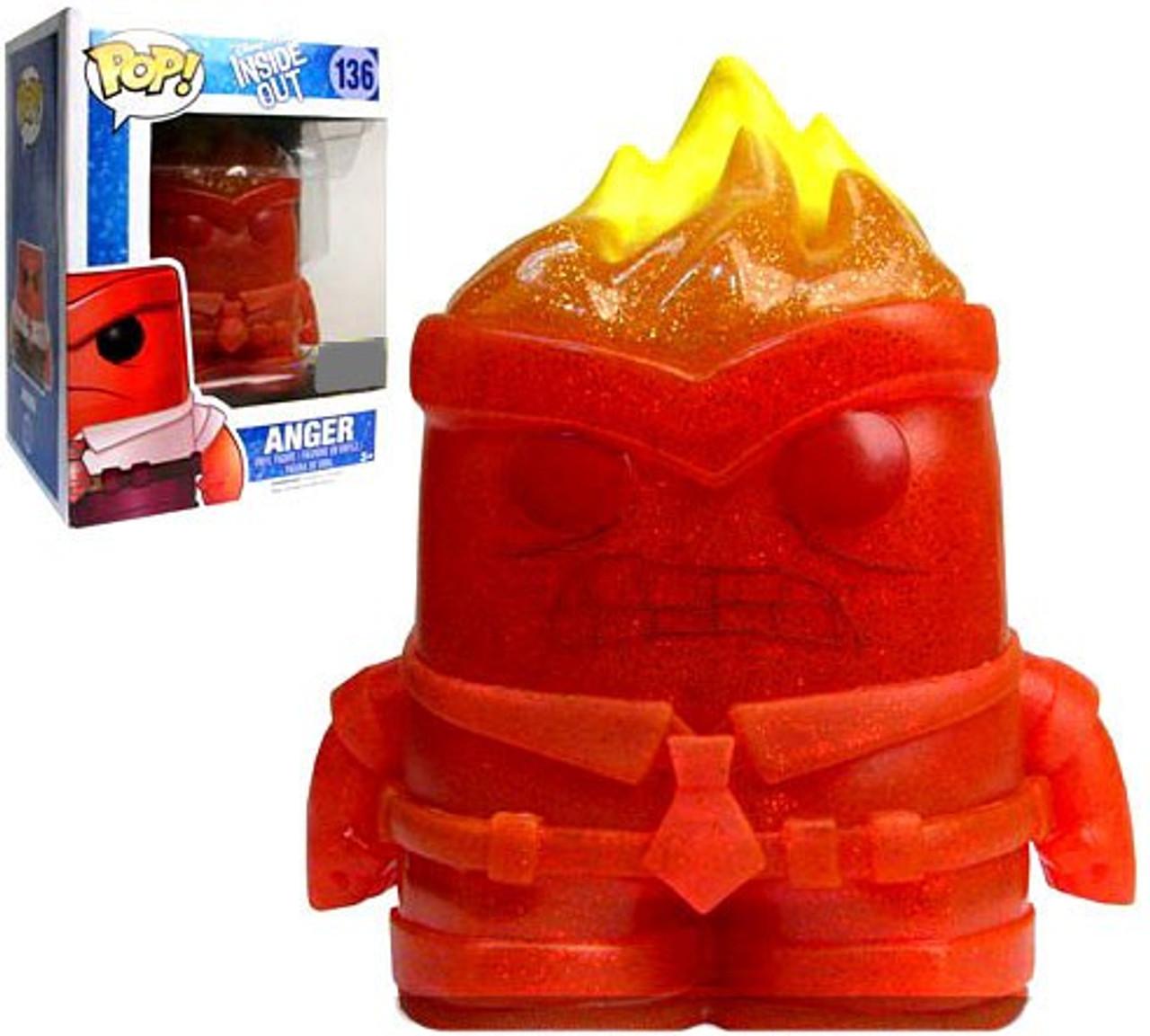 Disney / Pixar Inside Out Funko POP! Disney Anger Exclusive Vinyl Figure  #136 [Crystal]