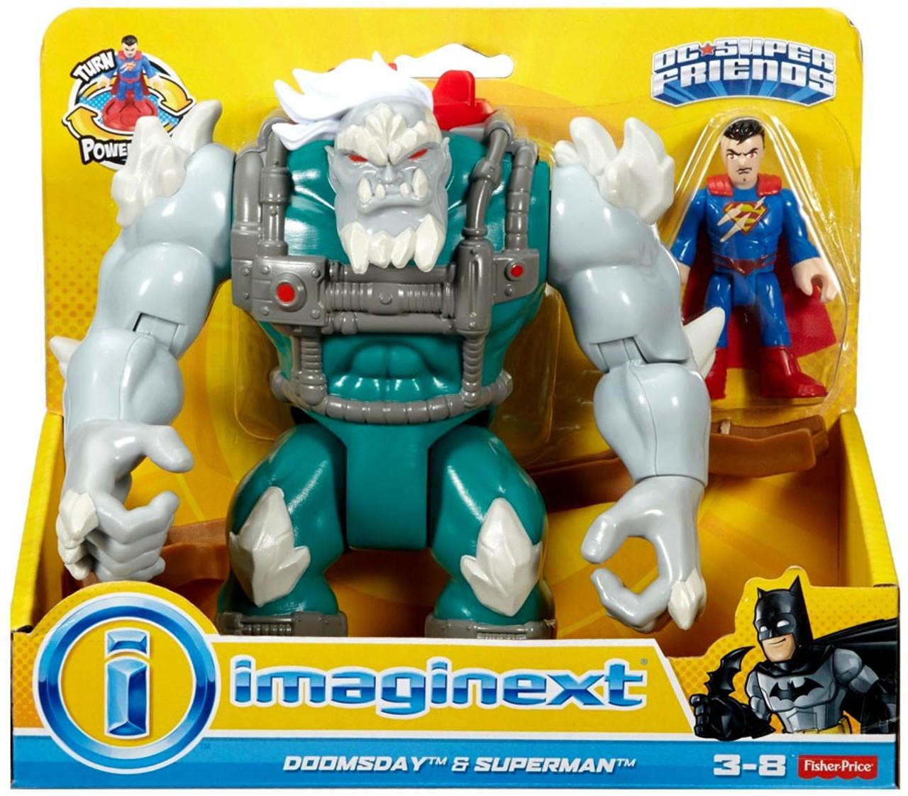 Fisher Price Dc Super Friends Imaginext Doomsday Superman 3 Figure