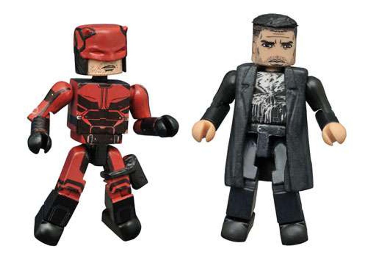 Marvel Daredevil Netflix Minimates Daredevil & The Punisher Exclusive  2-Inch Minifigure 2-Pack