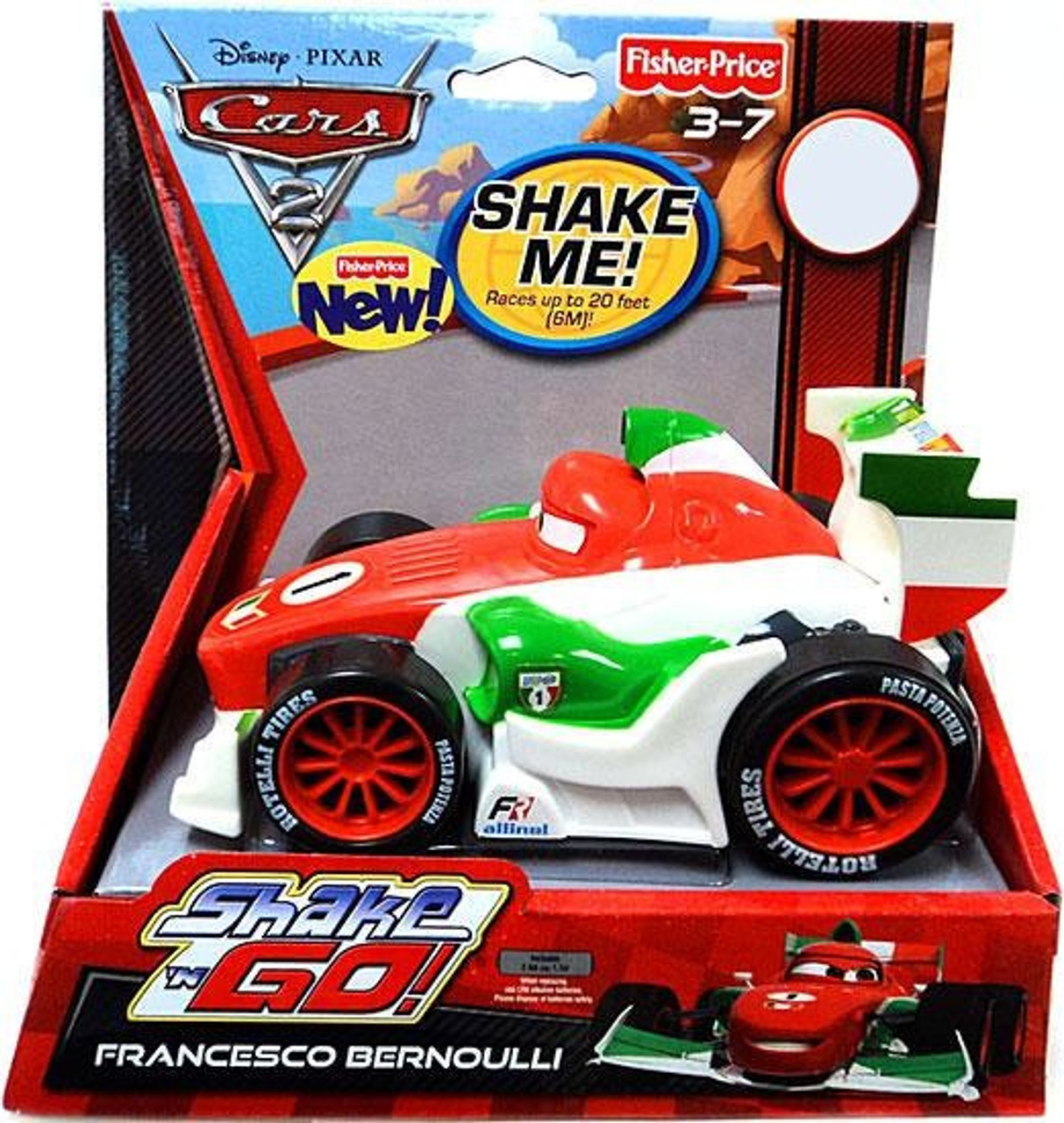 Fisher Price Disney Pixar Cars Cars 2 Shake N Go Francesco Bernoulli  Exclusive Shake N Go Car - ToyWiz 09c4bcf8b4b4