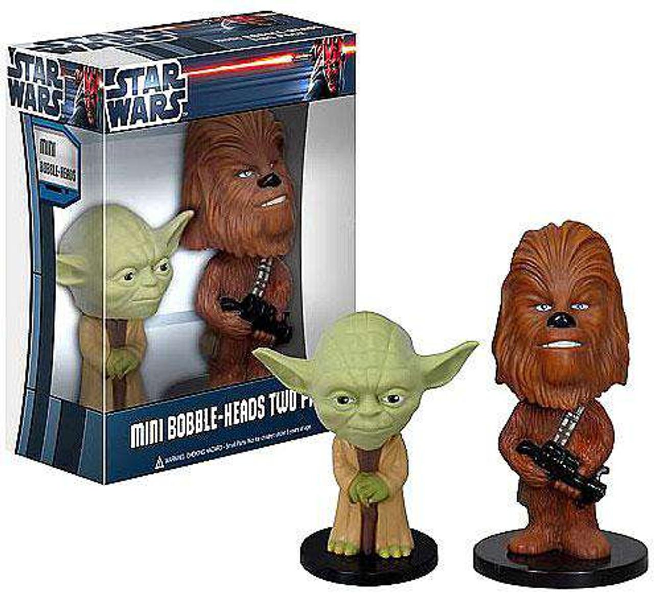 Funko Star Wars Mini Bobble Heads Yoda & Chewbacca Bobble Head 2-Pack