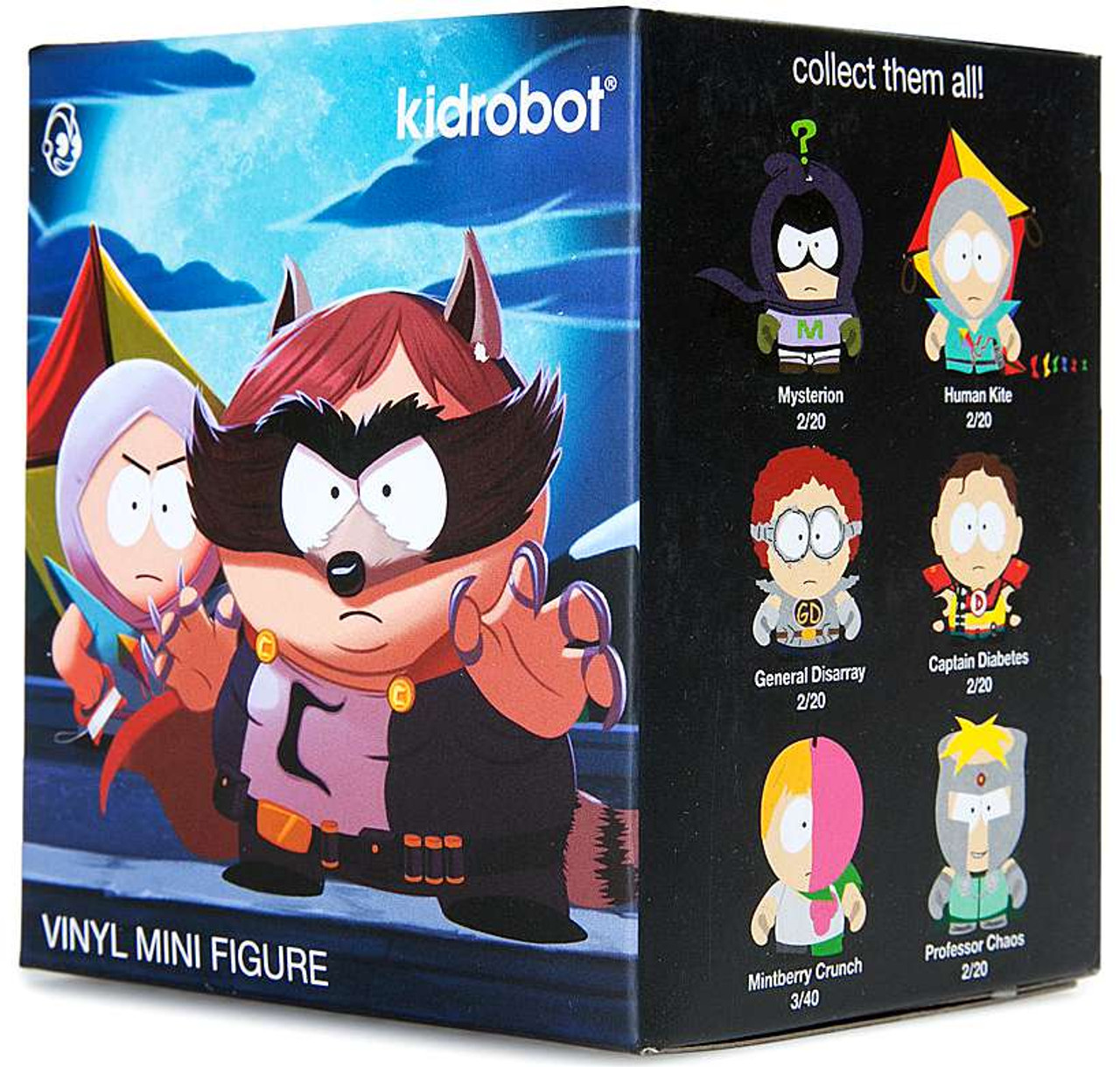 Kidrobot SOUTH PARK THE FRACTURED BUT WHOLE Series GENERAL DISARRAY Vinyl Figure
