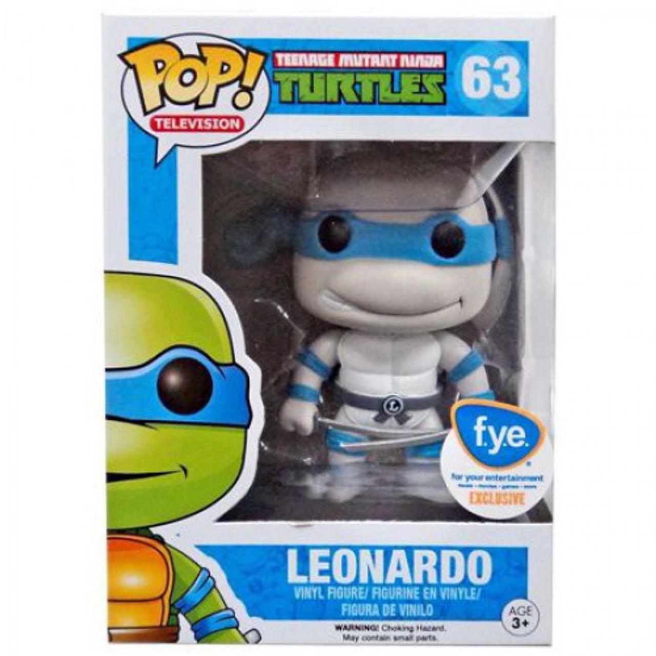 b4fb4c5baa9 Funko Teenage Mutant Ninja Turtles Funko POP TV Leonardo Exclusive Vinyl  Figure 63 Black White - ToyWiz