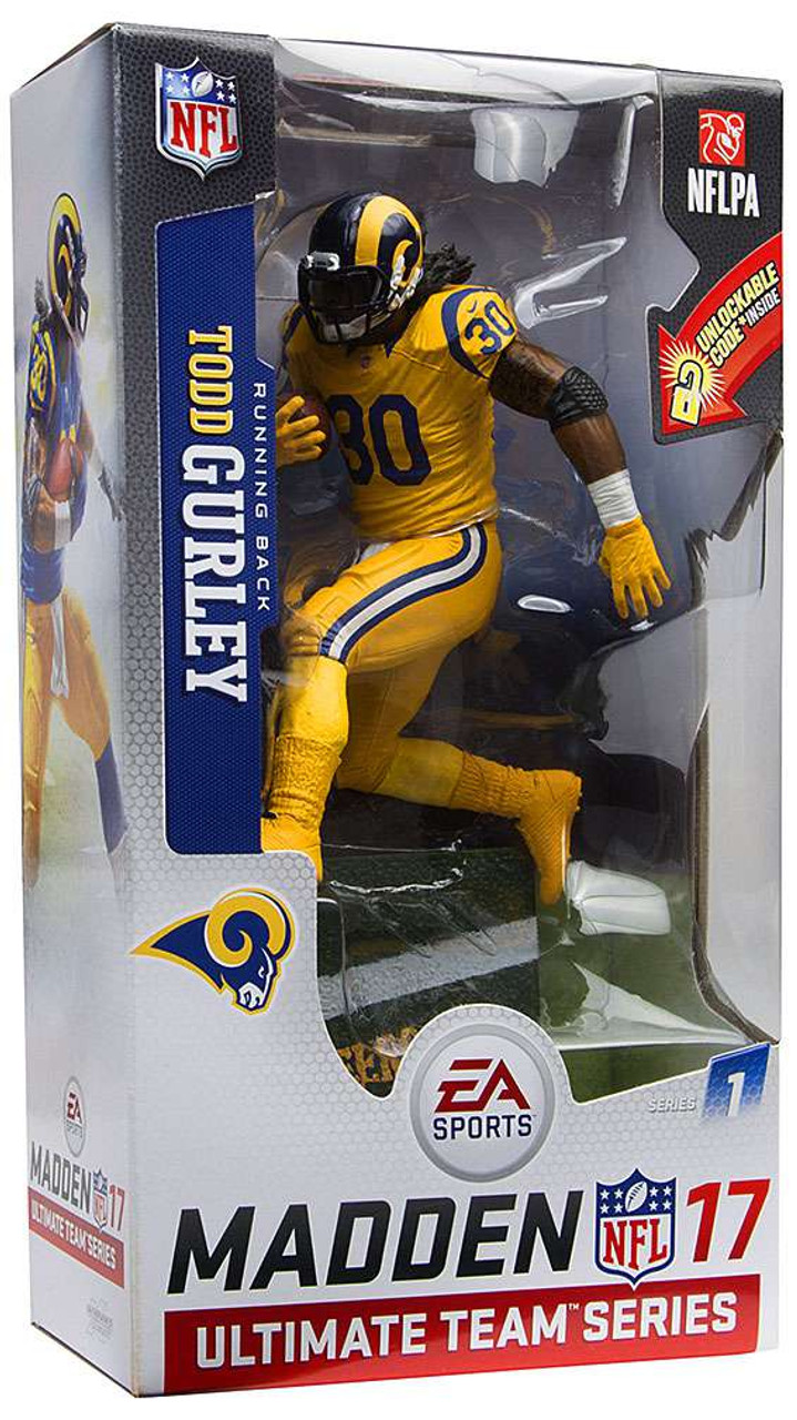 huge selection of 5aadf 49806 McFarlane Toys NFL Los Angeles Rams EA Sports Madden 17 Ultimate Team  Series 1 Todd Gurley Action Figure [Color Rush Uniform]