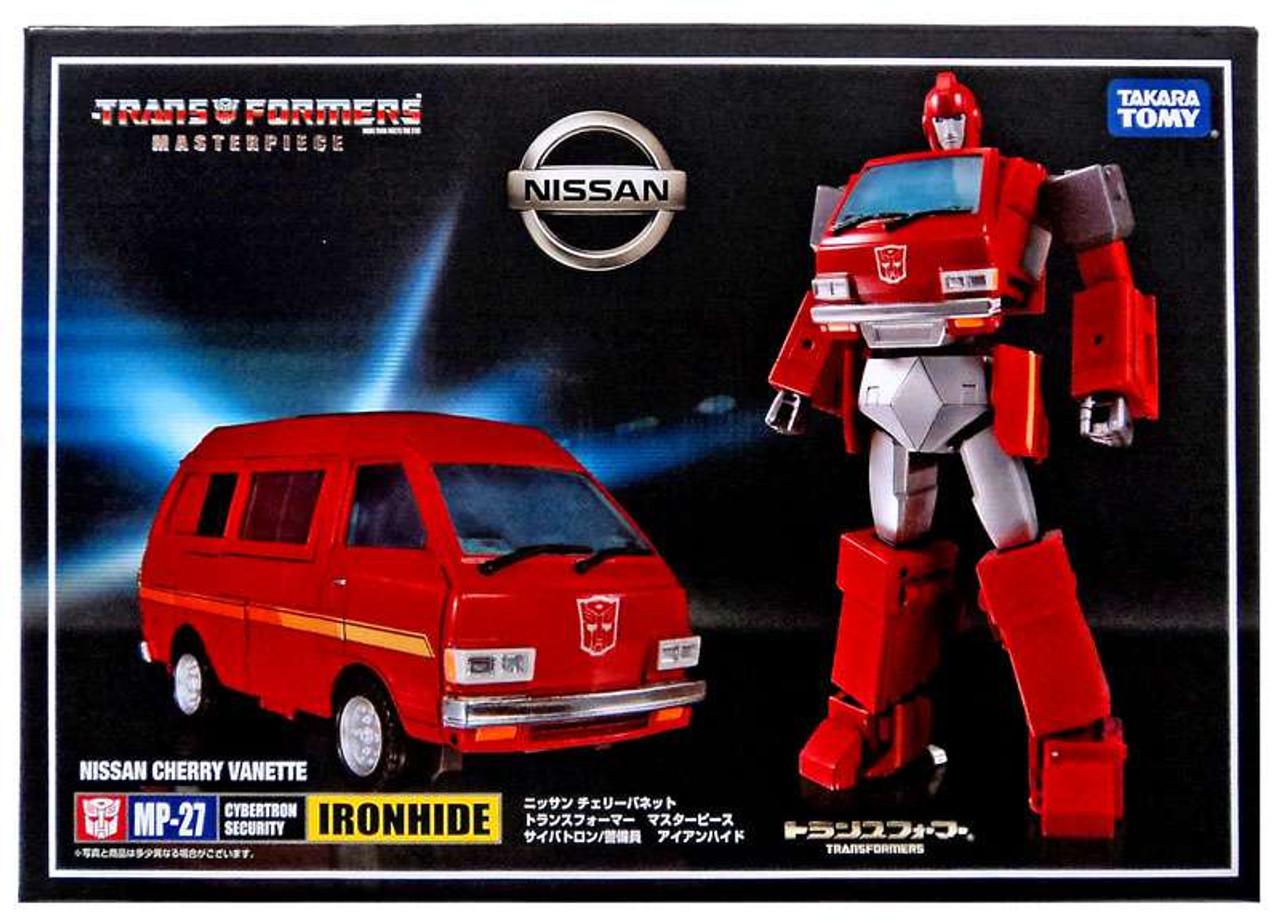 Transformers Takara Tomy Masterpiece MP-27 IRONHIDE NISSAN CHERRY VANETTE Figur