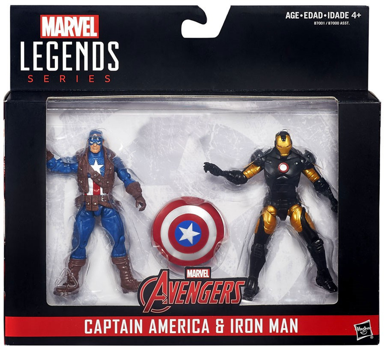 "Marvel Legends Universe 3.75/"" Comic 2-pack Shield Wielding hero Captain America"