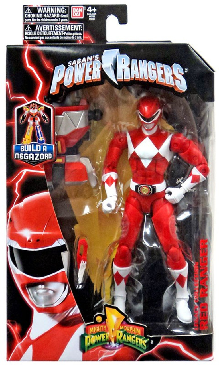 Bandai Mighty Morphin Power Rangers Legacy Red Ranger Build A Megazord Figure