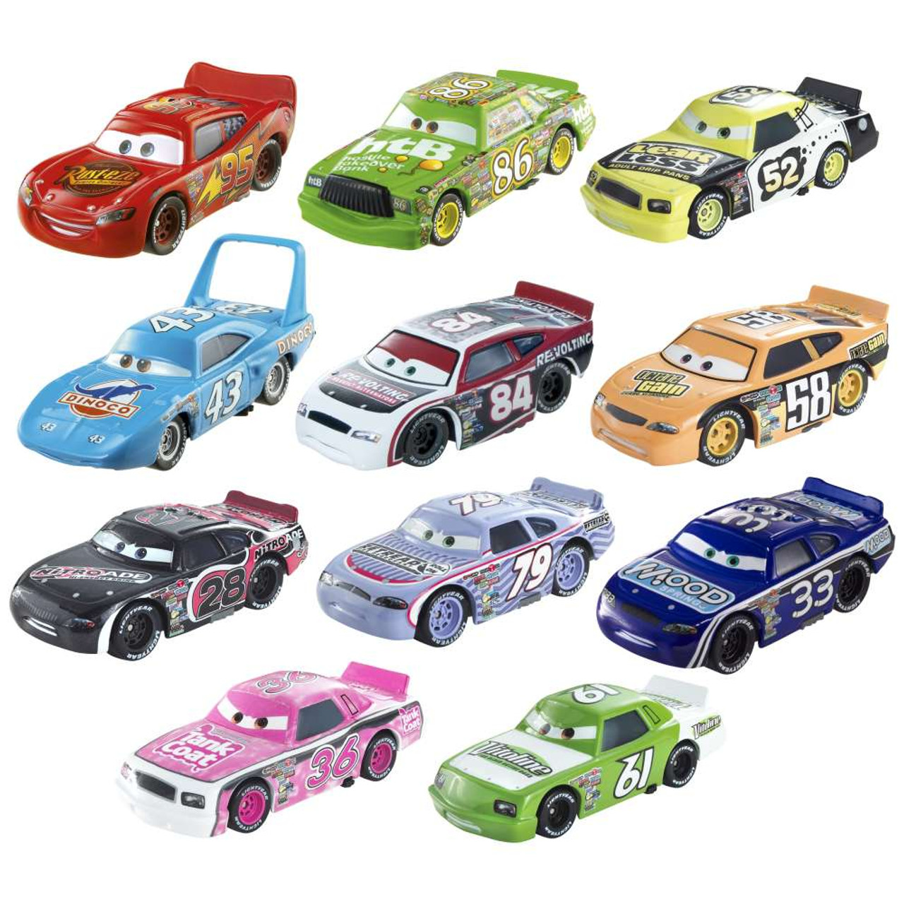 Disney Pixar Cars Piston Cup Collector Pack 155 Diecast Car 11 Pack