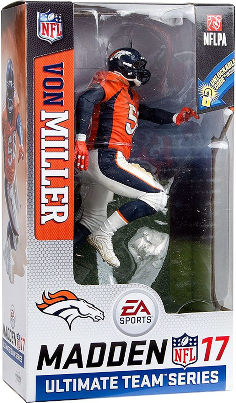 20c12694f McFarlane Toys NFL Denver Broncos EA Sports Madden 17 Ultimate Team Series  2 Von Miller Action