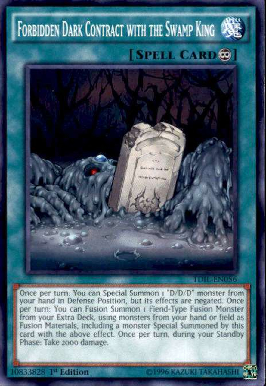 tdil-fr056 Yugioh lot of 3 contract of darkness with king swamp prohibited