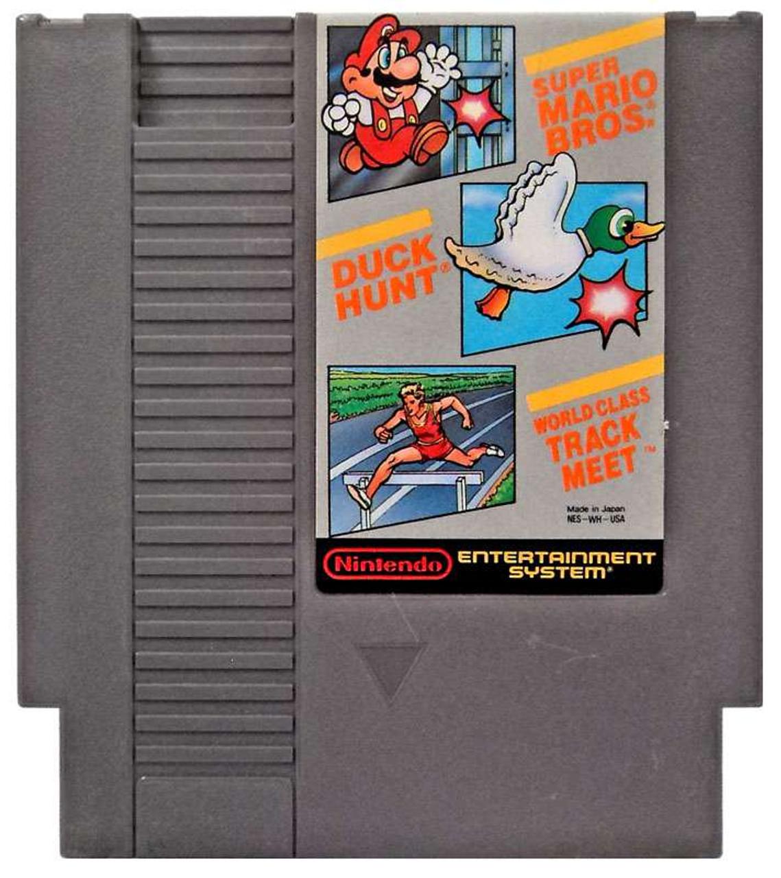 Nintendo Nes Super Mario Bros Duck Hunt World Class Track Meet