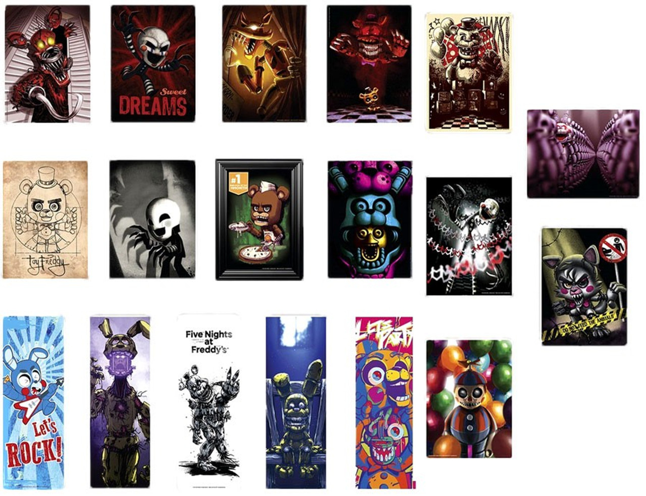Five Nights at Freddys Five Nights at Freddys Mini-Poster Box Just
