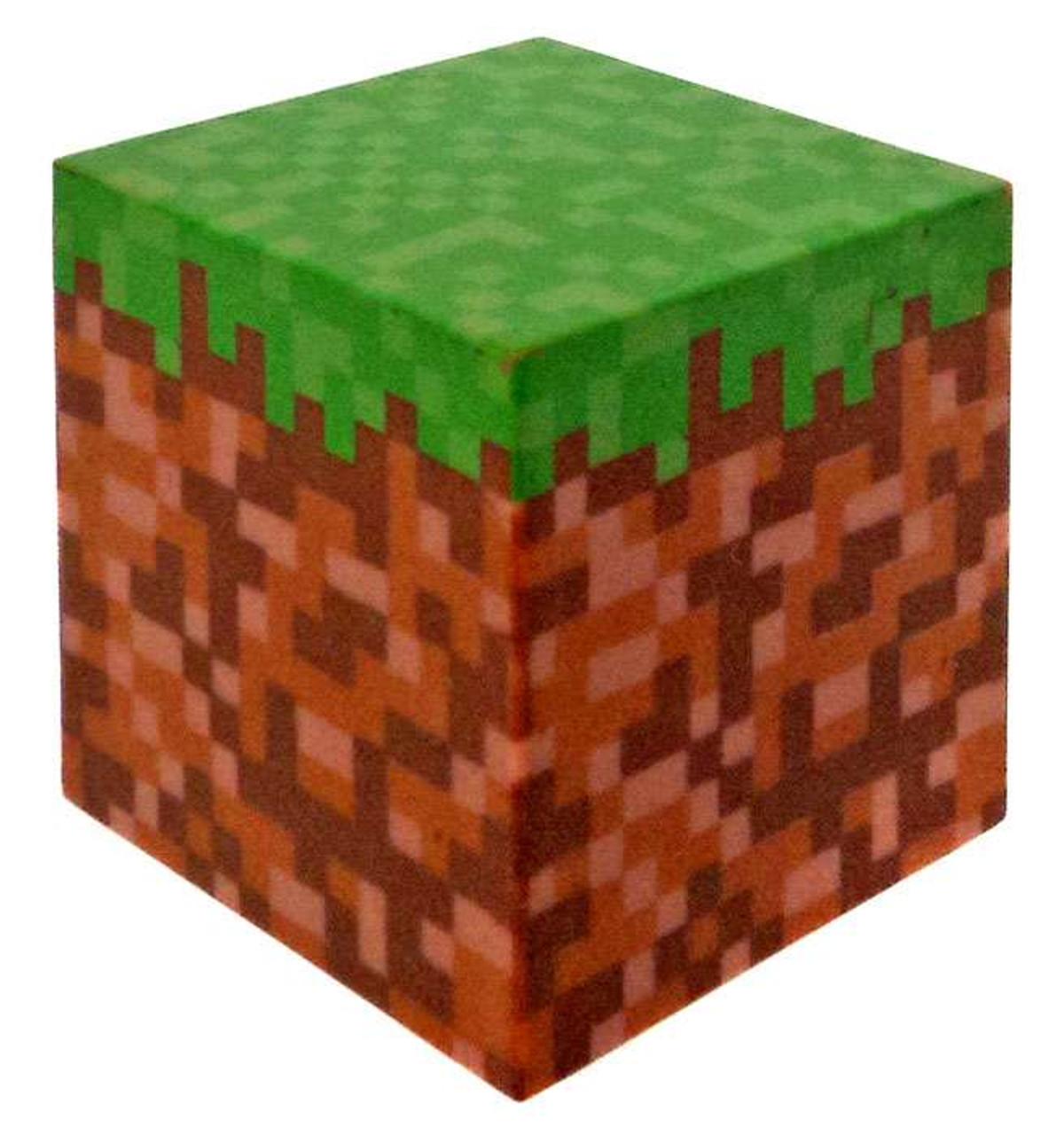 Minecraft Grass Block Figure Loose Jazwares - ToyWiz