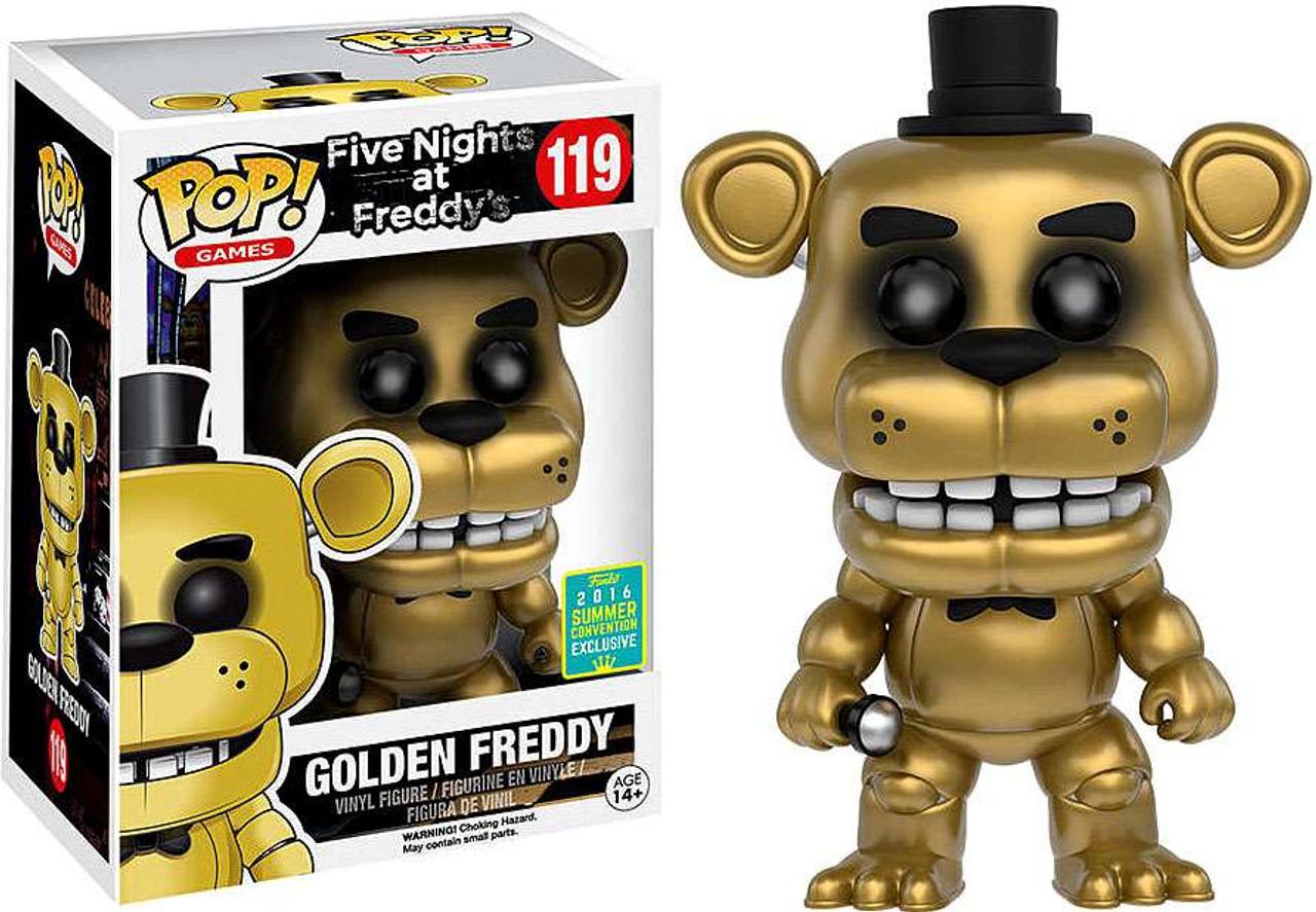 Funko Five Nights At Freddys Funko Pop Games Golden Freddy