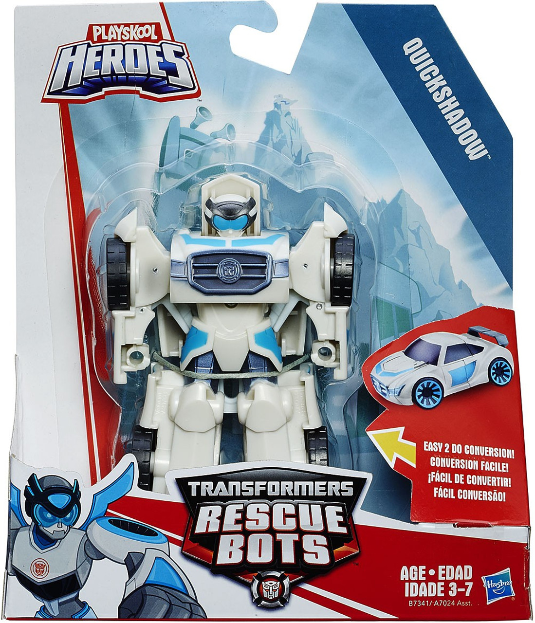 Transformers Playskool Heroes Rescue Bots Quickshadow Action