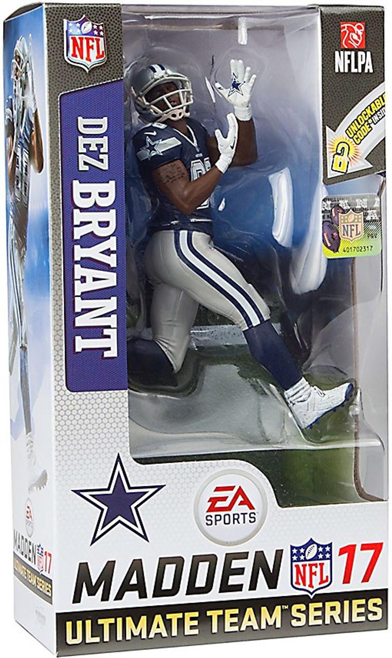 38d5fd268 McFarlane Toys NFL Dallas Cowboys EA Sports Madden 17 Ultimate Team Series  3 Dez Bryant 7 Action Figure Dark Blue Jersey - ToyWiz