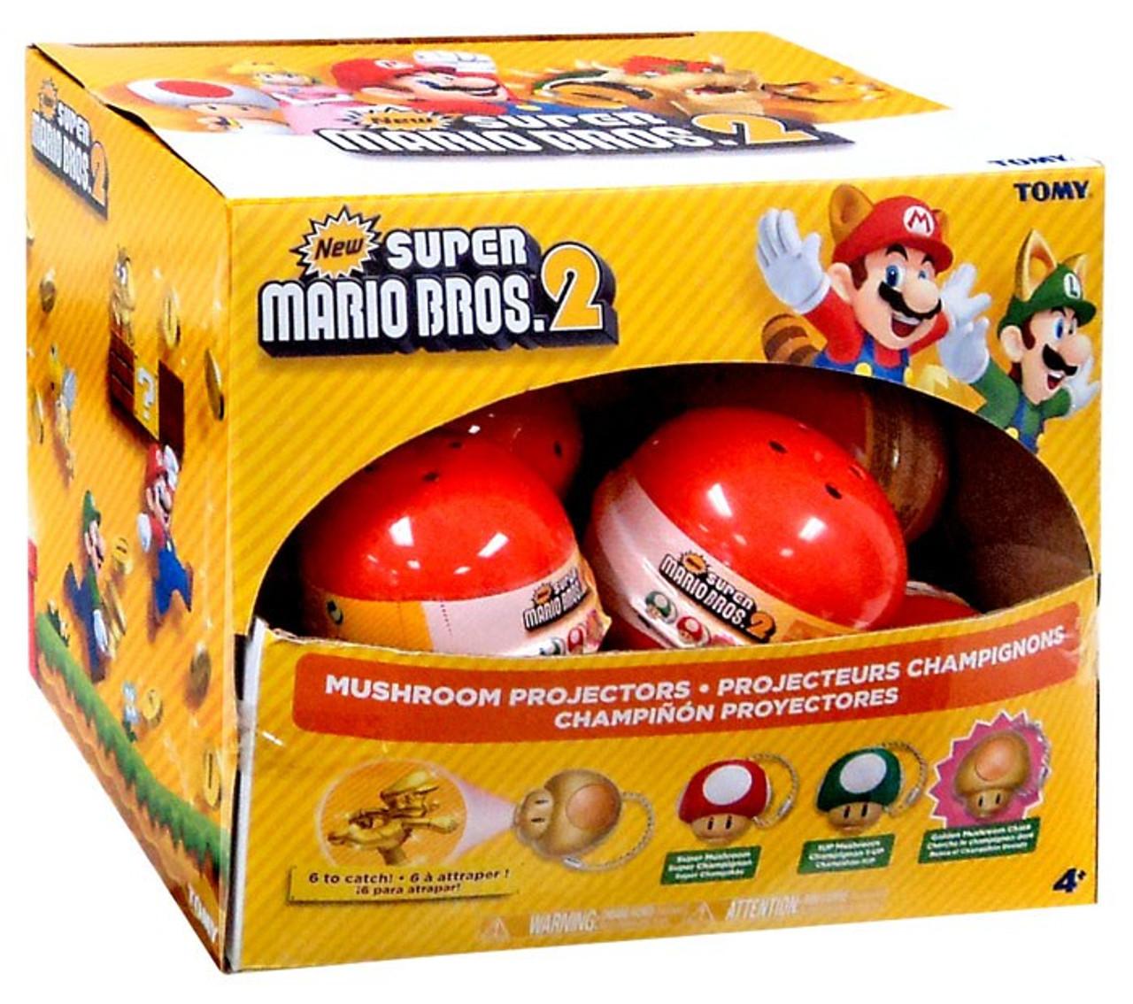 New Super Mario Bros 2 Mushroom Projectors Box 12 Packs Tomy Toywiz