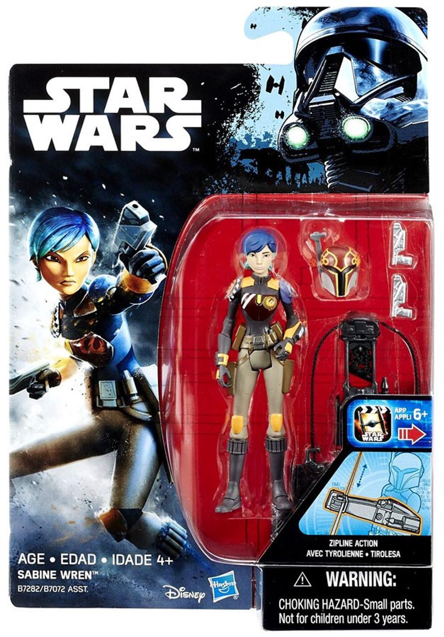Star Wars Rebels Sabine Wren Zip Line Action Figure Hasbro 2016 Aus Seller