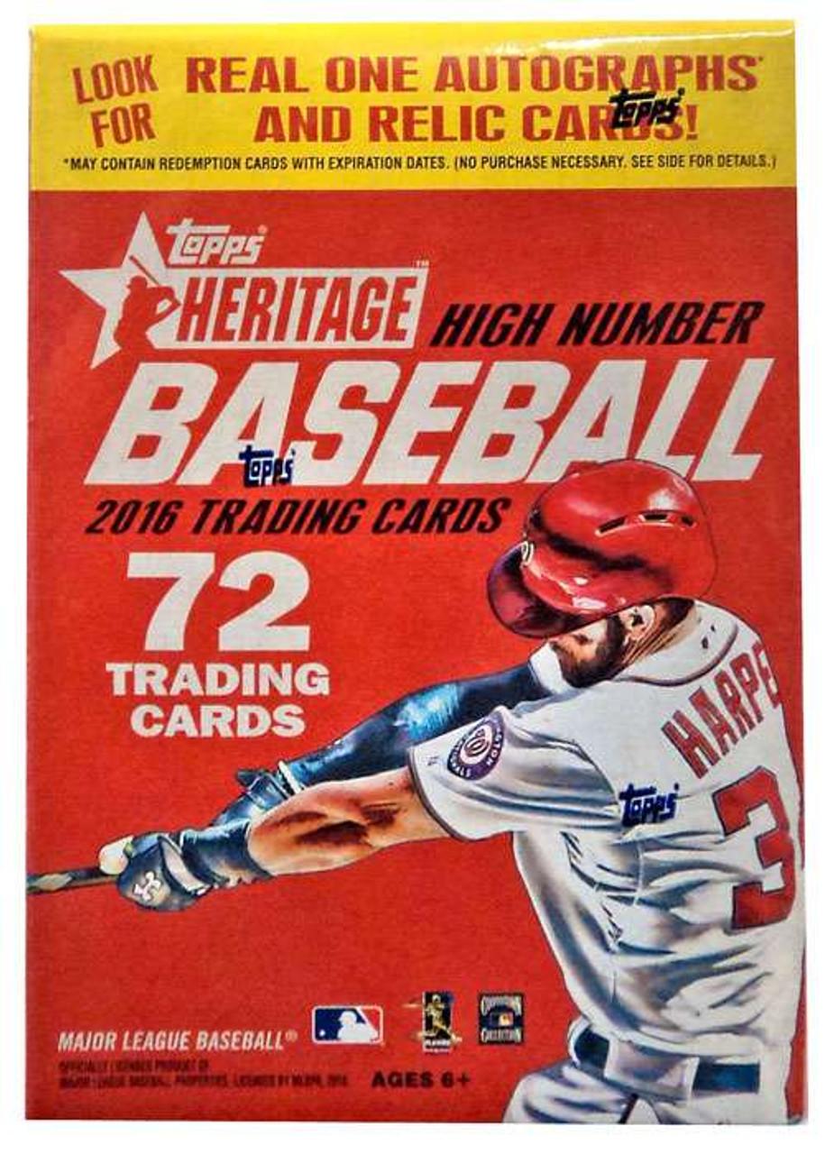 Mlb 2016 Heritage High Number Baseball Trading Card Blaster Box 7