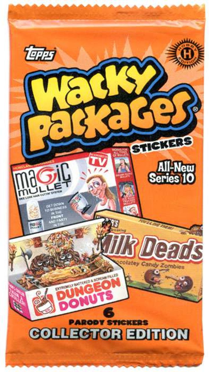 Wacky Packages All New Series 10 Stickers Box 2013//Hobby