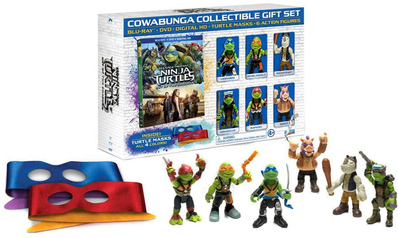 Teenage Mutant Ninja Turtles Out Of The Shadows Cowabunga Collectible Gift Set Exclusive Blu Ray Playmates Toywiz