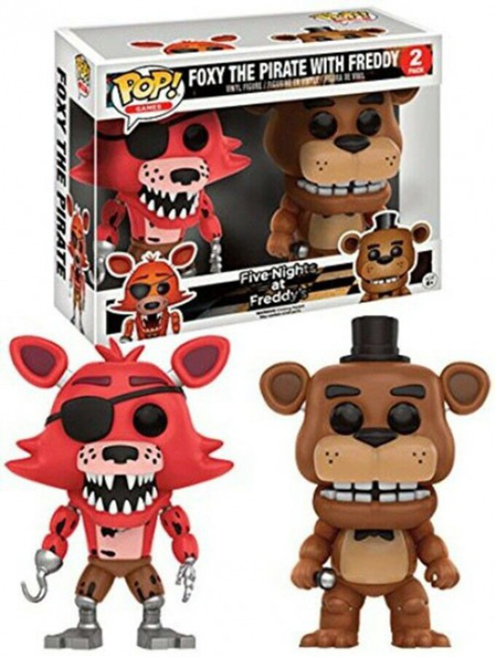 Five Nights at Freddy's Funko POP! Games Foxy the Pirate with Freddy  Exclusive Vinyl Figure 2-Pack