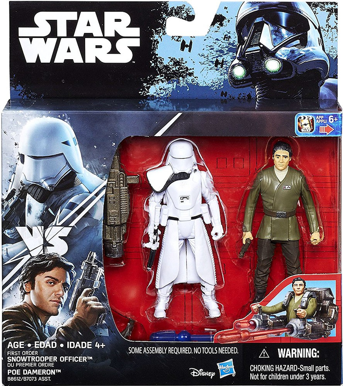 "IMPERIAL SNOWTROOPER vs POE Star Wars 3.75/"" Action Figures PAO v DEATH TROOPER"