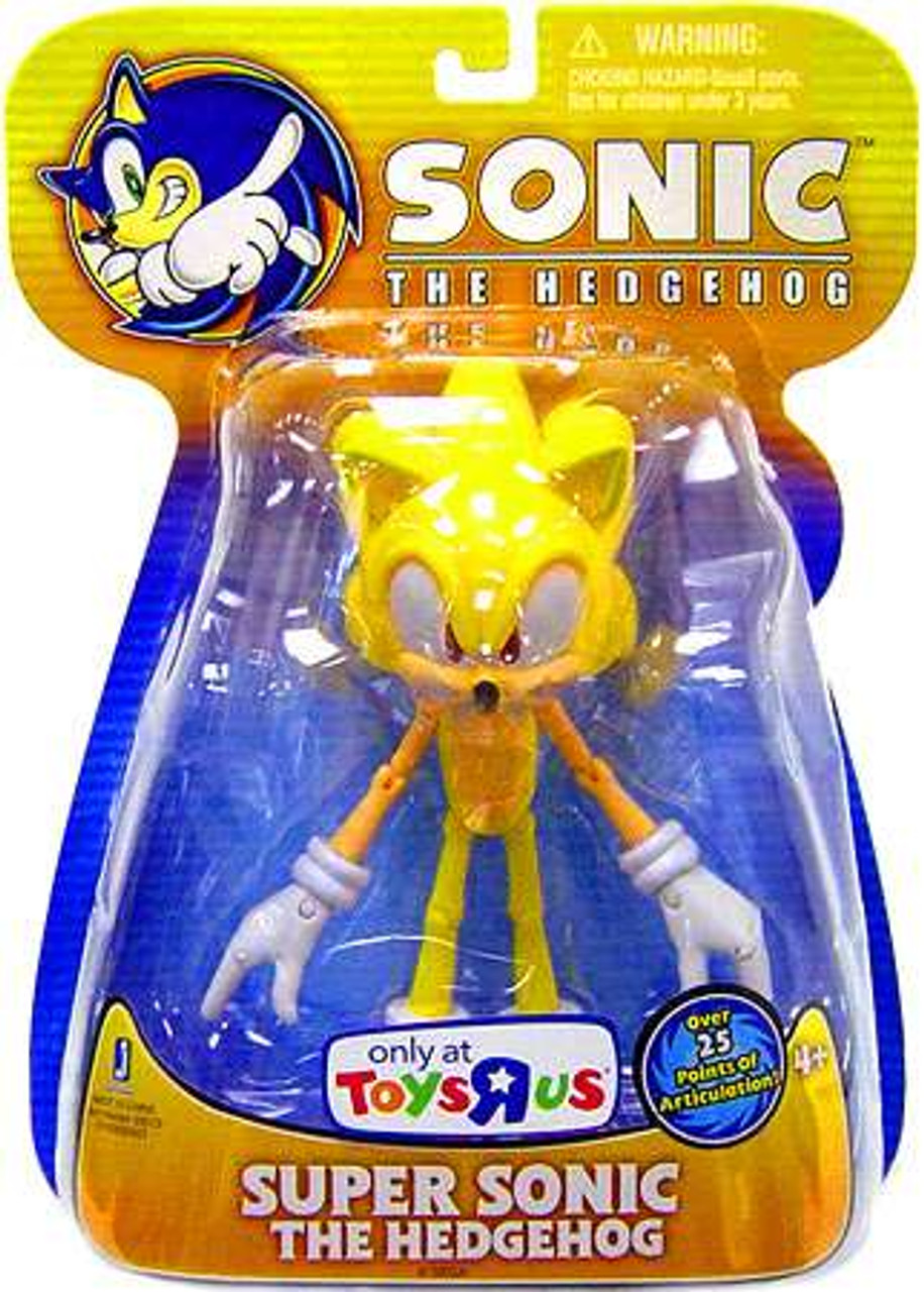 Sonic The Hedgehog Super Sonic Exclusive 5 Action Figure Yellow Version Jazwares Toywiz