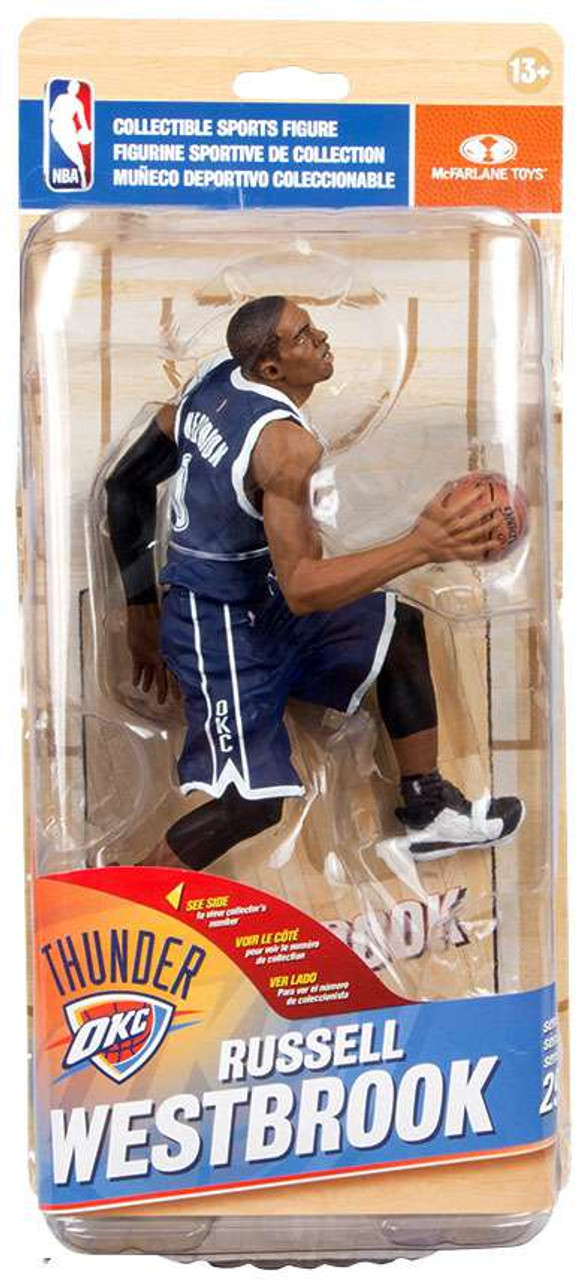 51c962d3c567 McFarlane Toys NBA Oklahoma City Thunder Sports Picks Series 29 Russell  Westbrook Action Figure  Blue