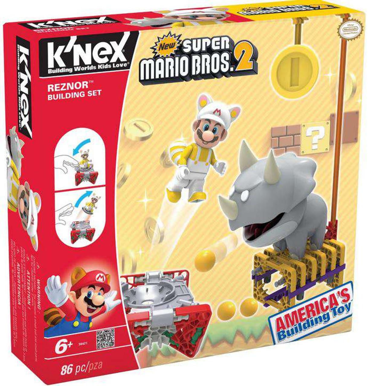 Knex New Super Mario Bros 2 Reznor Set 38421 Damaged Package Toywiz