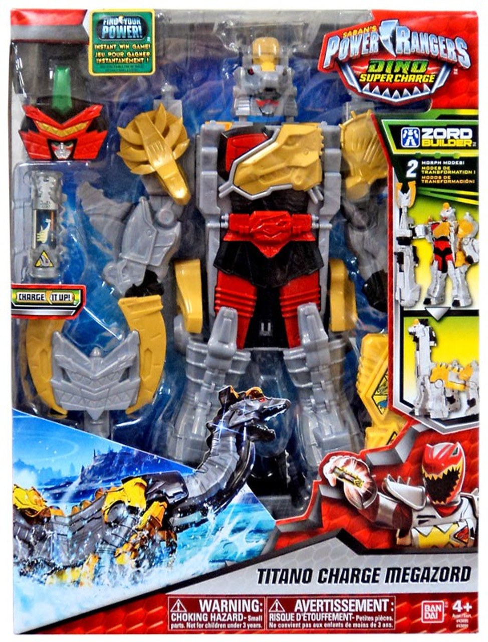 Power Rangers Dino Super Charge Titano Charge Megazord