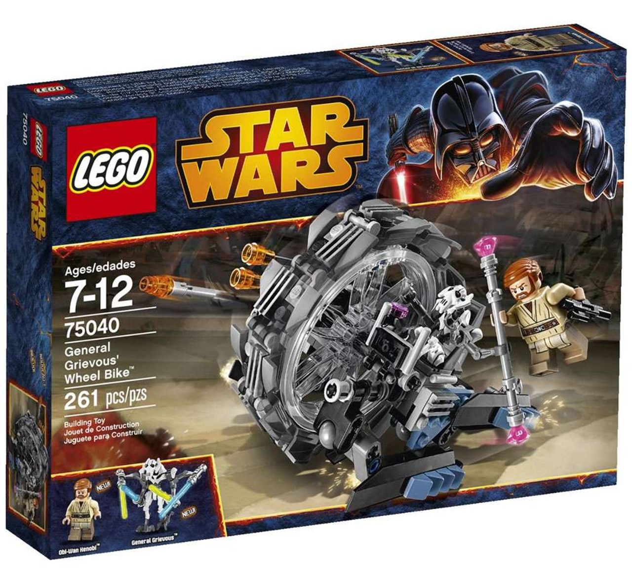 Lego Star Wars Revenge Of The Sith General Grievous Wheel Bike Set 75040 Damaged Package Toywiz